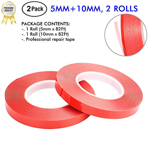 LLPT Double Sided Tape 5mm 10mm 2 Rolls x 164ft for Phone Repair LCD Screen Repair Sticker of Phone Electronics Crafting Ultra Thin Strong PET Adhesive from LLPT