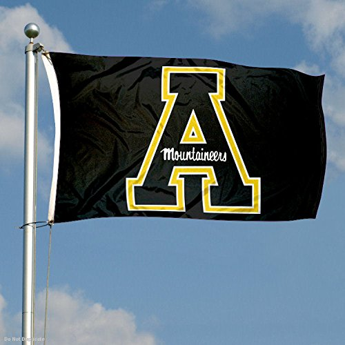 Appalachian State Mountaineers Black Flag College Flags and Banners Co