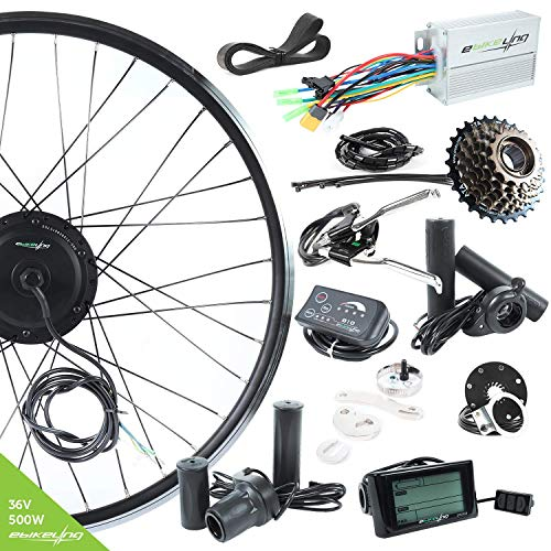 EBIKELING 36V 500W 700C Geared Front Electric Bicycle Conversion Kit (Front/LED/Thumb)