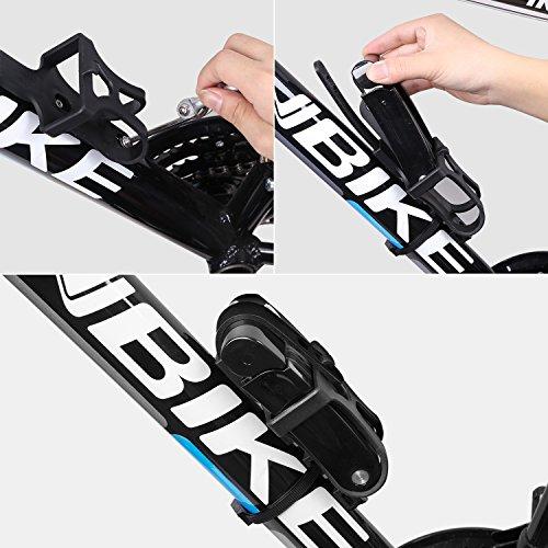 Inbike Bicicleta Plegable de Acero de Aleación de 8 Juntas Lock Anti-Hydraulic con Soporte de Montaje: Amazon.es: Deportes y aire libre