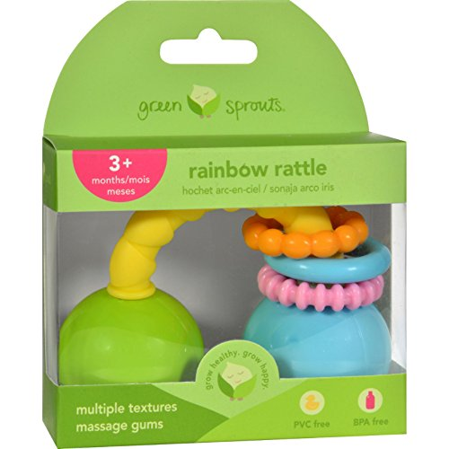 - green sprouts Rattle - Rainbow - Unisex - 3 Months - 1 Count , Kid ,Toy , Hobbie , Nice Gift