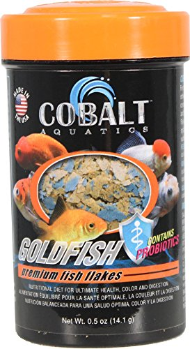 Goldfish Aquatic Food - Cobalt Aquatics 30350 Goldfish Flakes Premium Fish Food