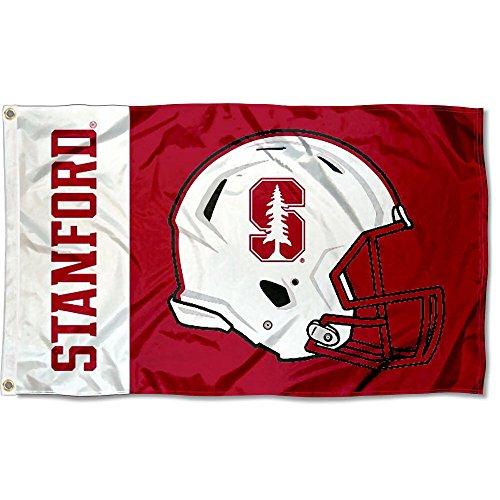 Stanford Cardinal Large Football Helmet 3x5 College Flag