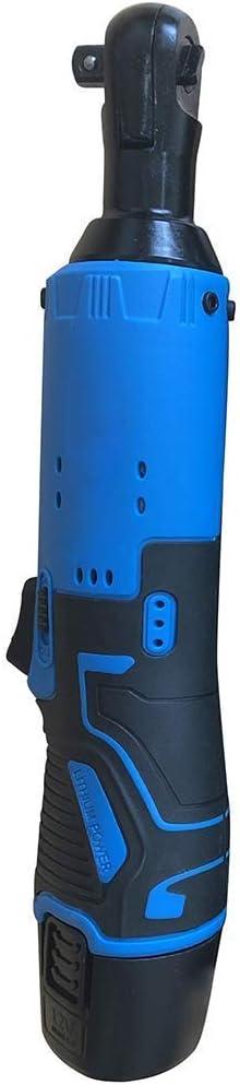 Véritable MxZas Clé à cliquet électrique 12V 3/8 '' 65Nm sans Fil 90Deg;Angle Droit avec Le kit de Batterie (Bleu (UK)) Jzx-n (Color : Blue(UK)) Blue(eu) MIyBF