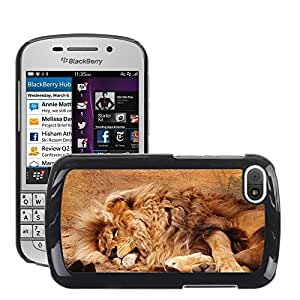 Hot Style Cell Phone PC Hard Case Cover // M00116166 African Animal Big Carnivore Cat // BlackBerry Q10