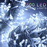ZOIC 500 LED Christmas Wedding Party Fairy String Light Lamp 100 Meters (328 feet) 8 Modes 29V Memory Function White