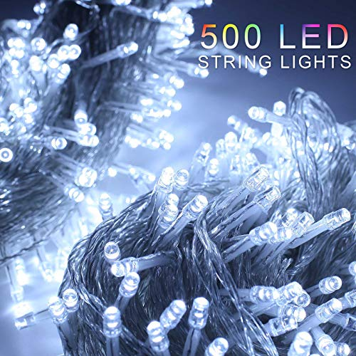 Blue Led Christmas Lights Clear Cable
