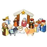 Kurt Adler 10.5-Inch Hand-Carved Child's 1st Nativity Set