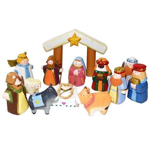 Kurt Adler 10.5-Inch Hand-Carved Child's 1st Nativity Set by Kurt Adler