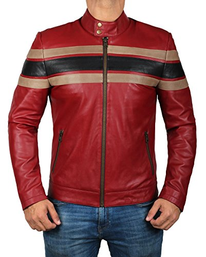 Mens Leather Racing Jacket - 3