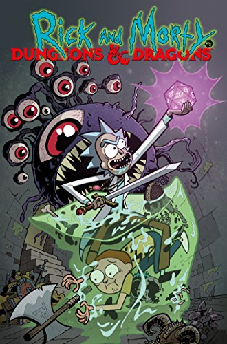 Book cover from Rick and Morty vs. Dungeons & Dragons by Patrick Rothfuss