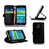 OPERLO Leather Movie Stand PINNACLE Flip Case Wallet for Samsung Galaxy S5 Mini - BLACK