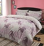Dreamscene Kids Unicorn Dreams Duvet Cover with Pillow Case Girls Bedding Set Mystical Pink, Double