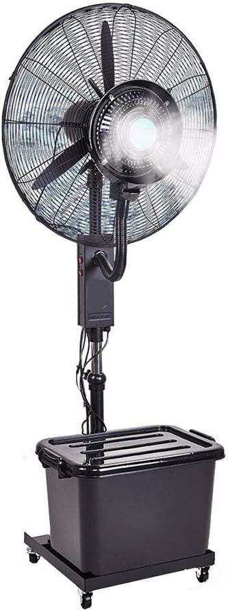 エアコンファンペデスタルファンエアコンファンスプレー工業用ファン冷凍強力な扇風機3スピードオプション、90度振動ヘッド、高さ調節可能、傾斜(サイズ:26in - 30in)