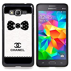 For Samsung Galaxy Grand Prime SM-G530F G530FZ G530Y G530H G530FZ/DS , Modelo de punto Marca Blanco Negro - Diseño Patrón Teléfono Caso Cubierta Case Bumper Duro Protección Case Cover Funda