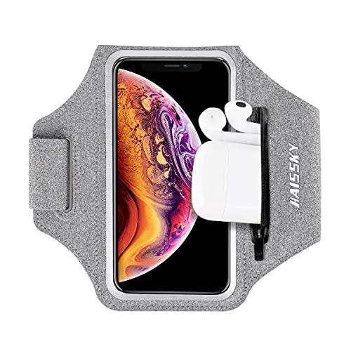 HAISSKY Running Armband met Oordopjes Tas Sport Telefoon Armband voor iPhone 12 Pro /11/11 Pro/XS/XR/X/8 Plus Sport…