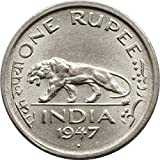 Collection house-ONE Rupee 1947 Rare Coin of India
