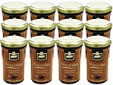 Nocciolata Crunchy Chocolate Hazelnut Spread by Slitti (Case of 12 - 8.8 Ounce Jars)