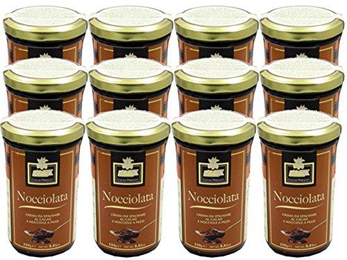Nocciolata Crunchy Chocolate Hazelnut Spread by Slitti (Case of 12 - 8.8 Ounce Jars) by Slitti