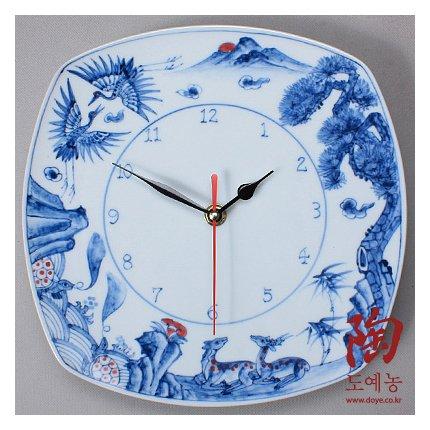 Wanduhr Porzellan Uhr Luxsus Quartz Keramik Amazon De