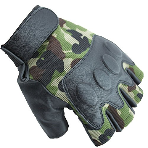 - Dealzip Inc Valuable Work Gloves, Camouflage Sport Cycling Gym Weightlifting Exercise Training Body Building Fitness Free Size Half Finger Gloves