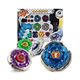 JKC Kids Fusion Metal Storm/Flame/Earth/Lightning Launcher Grip Gyro Tops Four-Piece Set