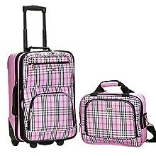 Rockland Luggage 2 Piece Printed Set, Pinkcross, Medium