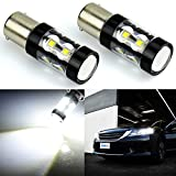 Automotive : JDM ASTAR Extremely Bright Max 50W High Power 1156 7506 LED Fog Light Bulbs for Back Up Reverse Lights, Xenon White