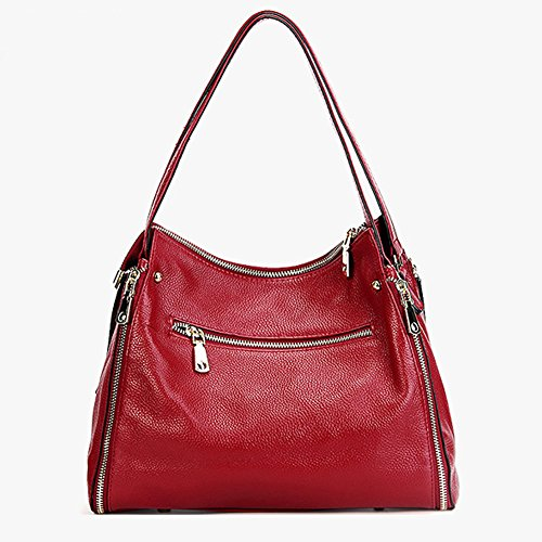Red LF Leather Elegant Design Bag Handbag Shoulder 1895 Body Cross Women Fashion Dissa UqnO7axa