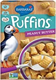Barbara's Bakery Puffins Cereal, Peanut Butter, 11 Ounce (Pack of 4)