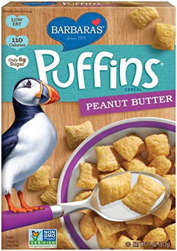 Barbara's Bakery Puffins Cereal, Peanut Butter, 11 Ounce (Pack of ()
