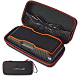 AOMAIS Speaker Case, UtechSmart Premium PU Leather Shockproof Waterproof Carrying EVA Case Cover Storage Pouch Bag for AOMAIS Bluetooth Speaker