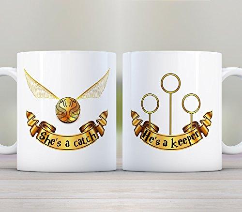 She's a Catch He's a Keeper 2 Mug Gift Set, (Catch Mug)