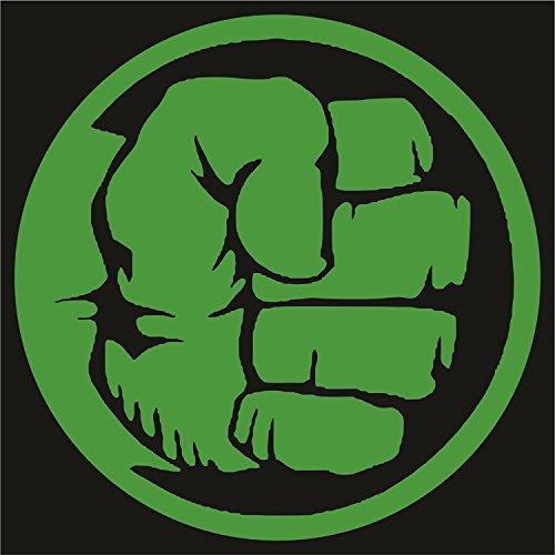 Marvel - Hulk Die Cut Premium Vinyl Decal - Green (Hulk Stickers)