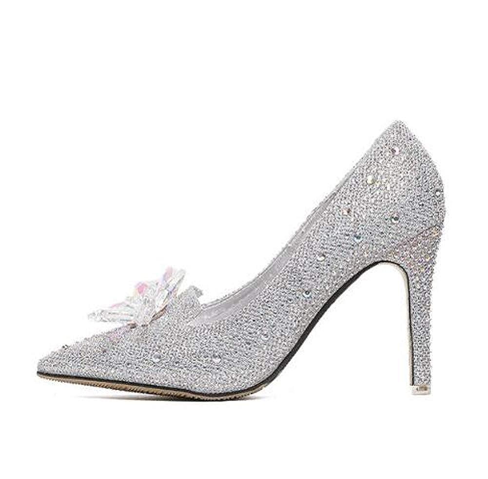 HLG Die hohen Frauen Absätze der Frauen hohen zeigten Rhinestone-hohe Absätze verschönerten Sequin-Abschlussball-Parteigericht Schuhe die Brauthochzeitsschuhe 5ab3ee