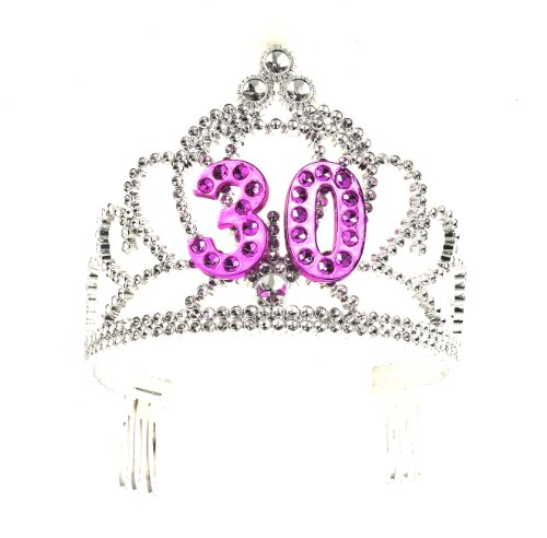 30th Birthday - Forum Novelties Happy Birthday 30th Silver Pink Tiara