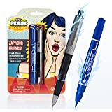 Shock Pen & Marker Prank Set By Gagster- 2-in-1 Funny Trick Pens Gag Gift | Fool Your Friends & Family And Make Them Laugh with Electric Shocking Practical Joke Toys That Really Write | Pack of 2
