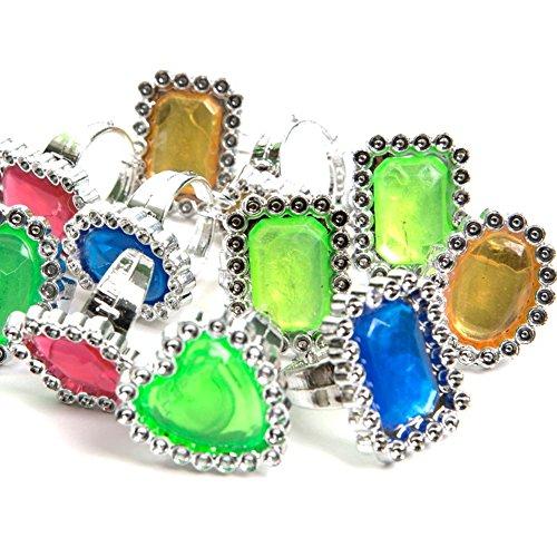Pirate Treasure Jewel Rings, 24 count