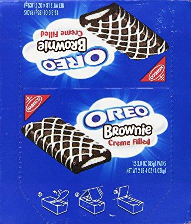 Oreo Chocolate Brownie   Cream Filled   Kids Favorite Snacks   3.0 Ounce 12 Pack
