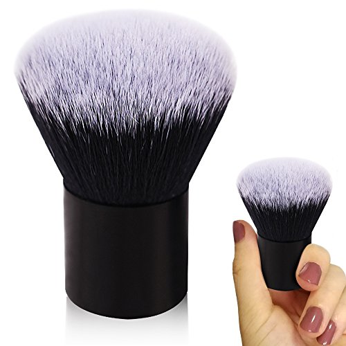 - Kabuki Brush,Large Foundation Brush,Professional Face Brush,Soft Dense Synthetic Blush Brush,Premium Makeup Brushes for Mineral Stippling Liquid Cream Powder