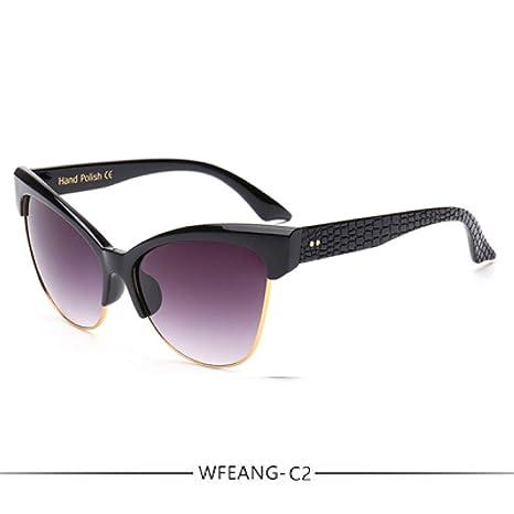 Yangjing-hl Diseñador de la Marca de Moda Gafas de Sol Cat ...
