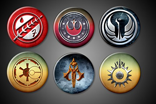 Star Wars Symbols - Set of 6-1.75