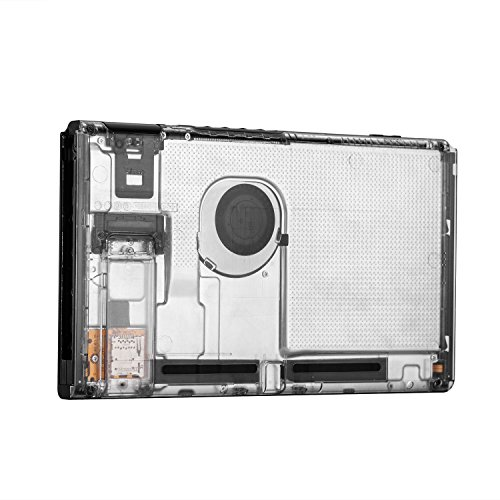 BASSTOP Translucent Back Plate DIY Replacement Housing Shell Case for NS NX Switch Console Without Electronics (Console-Matte Clear) from BASSTOP