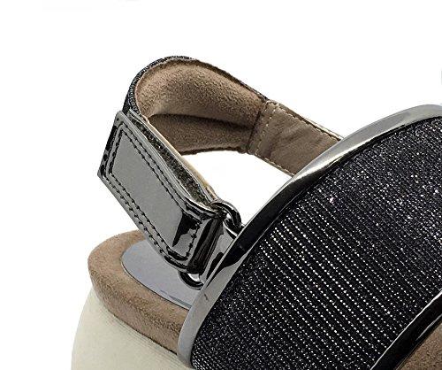 Sandalia Plomo Comfort Sandalia Plomo Plata D'Angela Plomo Plata D'Angela Sandalia Comfort Comfort qYqApxFn