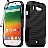 zte imperial ll phone cases - for ZTE Imperial ll 2 Mesh Perforated Skin Cover Case Stylus Pen ApexGears (TM) Black