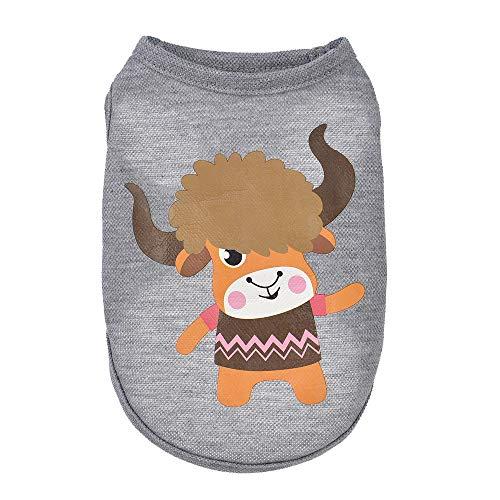 Geetobby Puppy Pet Cartoon Vest Dog Cat Cotton Sweatshirt Fashion Pet Costumes