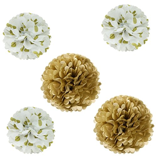 Wrapables Pom Poms Tissue Gold