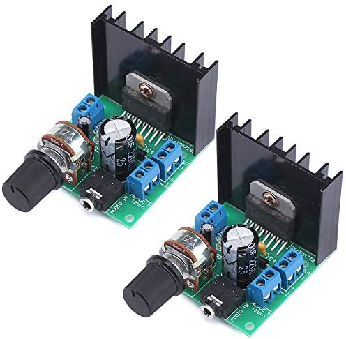 2PCS TDA7297 30W Digital Amplifier 15W+15W Dual Channel Power Amplifi Board Audio Component Amplifier 12V DC Mini Stereo Amp Amplify Module for Home Car Vehicle Auto Computer DIY Speaker