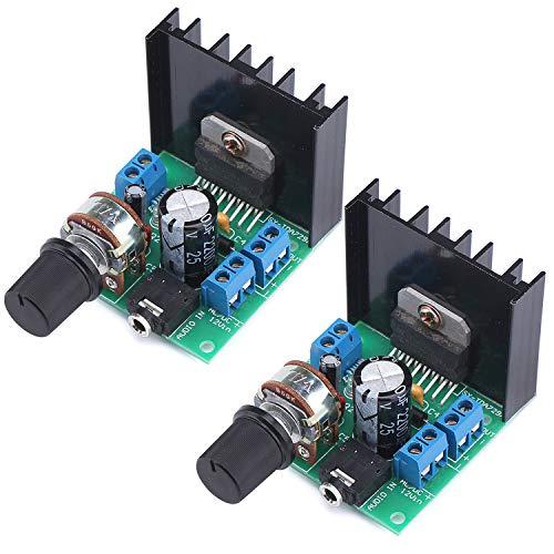 (2PCS TDA7297 30W Digital Amplifier, 15W+15W Dual Channel Power Amplifi Board Audio Component Amplifier, 12V DC Mini Stereo Amp Amplify Module for Home Car Vehicle Auto Computer DIY Speaker )