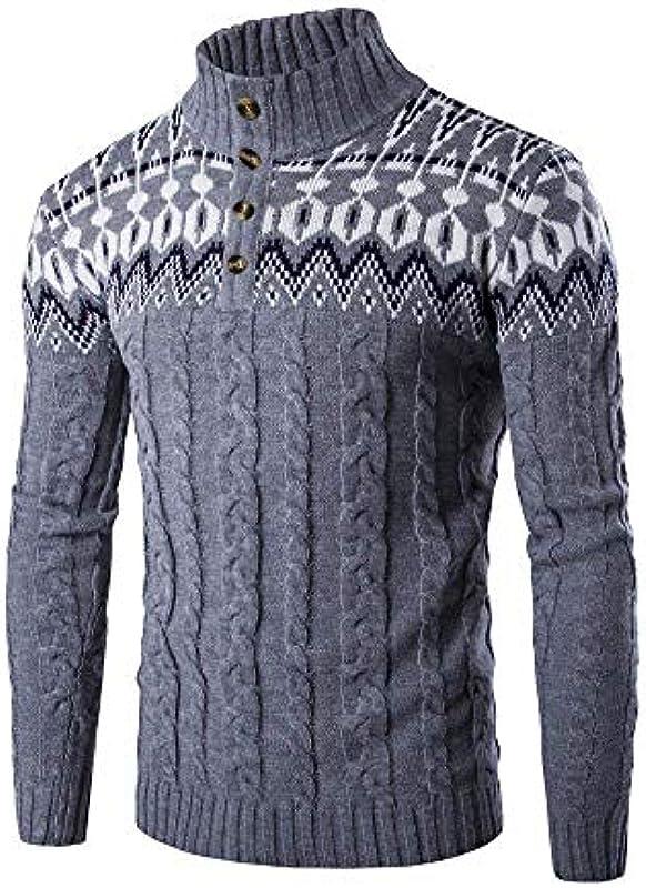 Męski sweter klasyczny sweter z dzianiny Slim Fit Sweatshirt koszulka z długim rękawem jesień wygodny rozmiar długi rękaw Button sweter na kÓłkach sweter z dzianiny sukienka: Odzież
